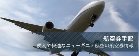 航空券手配 便利で快適なニューギニア航空の航空券情報