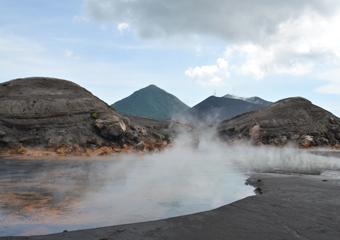 ラバウルの火山